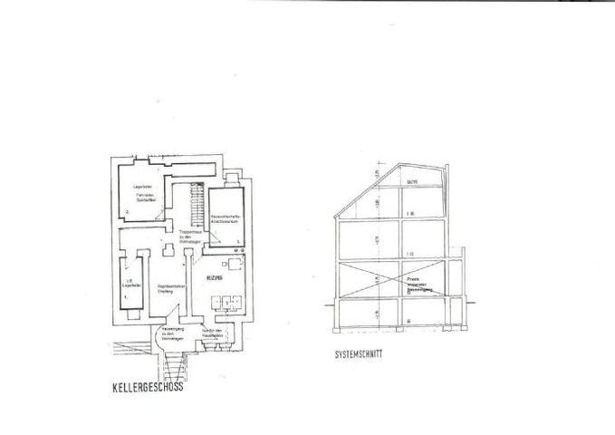 GR Keller und Schnitt Darstellung der Raumhöhen