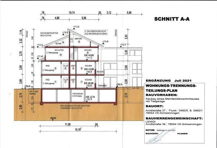 Schnitt A-A Wohnhaus